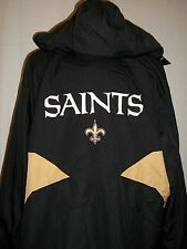 Mens Reebok NFL Coat Jacket New Orleans Saints Size XL Black