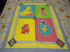 SESAME STREET ABC BABY QUILT AND MATCHING PILLOW CASE HANDMADE
