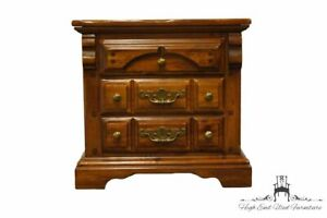 """AMERICAN DREW Solid Pine Rustic Country French 25"""" Three Drawer Nightstand 82..."""