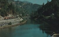 (H) Feather River Canyon, CA - Scenic View of the River and Surroundings - Train