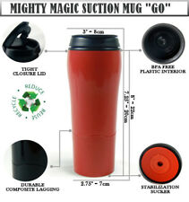 Mighty Mug GO Suction Travel Coffee Mug, Non Split BIG Flask Thermos 500ml Red