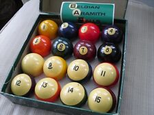VINTAGE BELGIAN ARAMITH Pool BALL SET TABLE SET 2-1/4 inch make offer