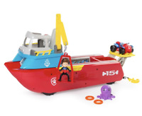 Paw Patrol Sea Patroller - Kids Christmas Boat Toy Set - Moveable Action Toys