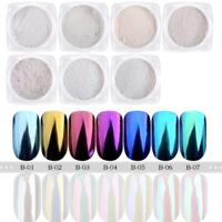 Magic Mirror Manicure Shimmer Powder Chrome Pigment Dust Nail Art For Gel Polish