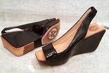 Modern Vintage Tery Wedge sandals black patent platform heels eur 38.5 us 8