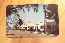 Sunset View Bungalows Hollywood Beach, Rppc. Postcard c.1940s