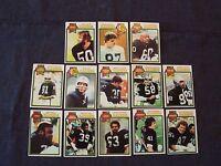 lot 13 1979 Topps Oakland Raiders football cards - Casper Upshaw Shell Hendricks