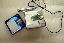 Sony Mznf520D Net Md Minidisc Walkman - White, Probably Works, Can't test It
