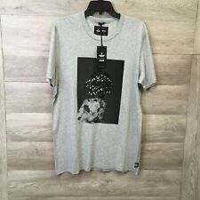 Victory Journal x Reigning Champ Mens Large Heather Grey Pima Cotton Beads T-Shi