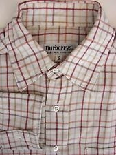 Burberry Cotton Blend Check Casual Shirts & Tops for Men