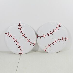 Baseball Ball Wall Decor 14 in diameter Faux Leather Picture Holder Display