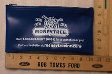 QTY 3  ZIPPERED BANK BAGS WITH MONEY TREE LOGO Free Shipping