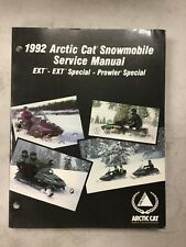 1992 Arctic Cat Snowmobile Service Manual Ext,ext Special,prowler Special