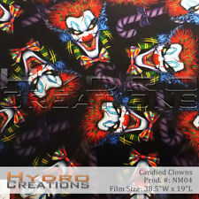 HYDROGRAPHIC FILM HYDRO DIPPING WATER TRANSFER FILM CANDIED CLOWNS 38.5 x 19