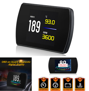 Car TFT LCD OBD2 On-Board Computer Digital Speed Projector Smart Alarm System