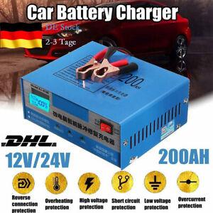 Profi Autobatterie Ladegerät Auto Batterie Ladegerät Batterielader 12/24V-200AH