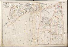 1896 BOSTON, MA., WEST ROXBURY M.E. CHURCH, G.W. BROMLEY COPY ATLAS PLAT MAP