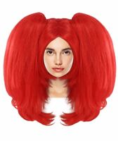 Clown Girl Big Ponytails Pony Red Straight Wig Cosplay Party Fancy Dress HW-2774