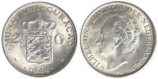 2-1/2 GULDEN 1944 CURACAO ARGENTO SILVER #2667A