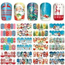 nail art stickers decals santa reindeer christmas tree xmas a1129 1140