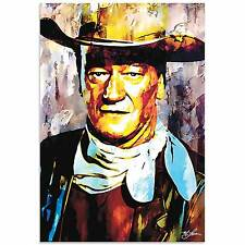 "Cowboy Pop Art 'John Wayne Gallant Duke' Ltd-Ed Metal Giclee Huge 32"" Artwork"