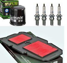 HONDA XL 650 V XL650 TRANSALP 00-07 Luftfilter Ölfilter 4 Zündkerzen Wartungskit
