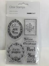 Kaisercraft Clear Letters To Santa stamp set new and unopened