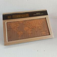 Vintage - SEIKO World Time Touch Sensor - Brushed Nickle Desktop - WORKS