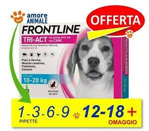 Frontline TRI-ACT per Cani da 10-20 kg  1 / 3 / 6 / 9 / 12 / 18 pipette - NEW