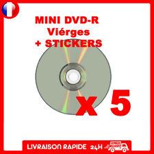 5 Mini DVD R ritek g04 1.4 Go 8 cm vierges compatibles gamecube +Stickers offert