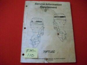 1998 EVINRUDE/JOHNSON/OMC O/B 70FTLEC 4-STROKE SERVICE MANUAL SUPPLEMENT GC