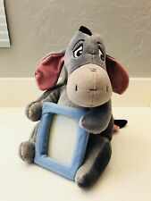 "Disney Winnie the Pooh 11"" Plush Eeyore 4x5 Picture/Photo Frame Detachable Tail"