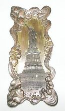 RARE PLUMIER SOUVENIR : NEW YORK - STATUE OF LIBERTY SOUVENIR TRAY - ART NOUVEAU