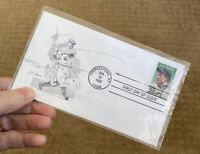 1989 First Day Issue Cover 25c Stamp Saluting Lou Gehrig The Iron Horse Baseball