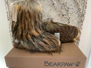 BEARPAW    Women's Size 10 US Hickory II Faux Fur Sasha Fall Winter Boots Shoes
