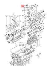 End cap AUDI VW Audi A3 Cabriolet S3 Sportback Quattro 06K103485A