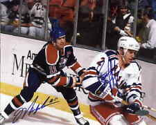 Mark Messier & Brian Leetch signed auto autographed 8x10 photo with Steiner COA