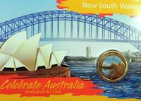 2009 $1 CELEBRATE AUSTRALIA NEW SOUTH WALES Coin on Card