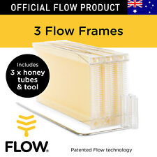 FLOW FRAMES 3 pcs Honey Tubes w Tool for Flow Hive Super Classic Beehive