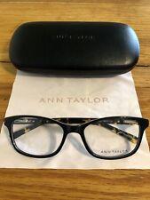 Ann Taylor Eyeglass Frames AT326 C01 Black/Tortoise 54-17-135 New