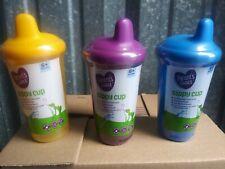 (3) Multicolor Parent's Choice Sippy Cup 9 Fl Oz 6+ Months