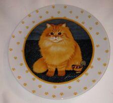 1989 Vintage Vandor Lowell Herrero Collectible Plate Cat With Wind Up Bird
