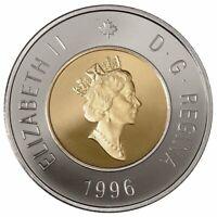 🇨🇦 Canada 1996 💯 2 (Two) Dollars $2 Coin, Toonie Polar Bear, Bi-Metallic 1996
