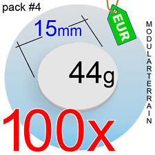 100x 2mm CLEAR ACRYLIC 15mm ROUND BASE CIRCLE DISC TRANSPARENT SOCLE ROND
