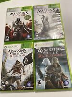 Assassins Creed II,III ,Revelations, Black Flag Games  Lot XBOX 360 Bundle