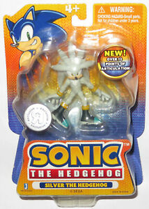 """3"""" JAZWARES *SEALED NEW MOC* SILVER! TOYS R US EXCL FIGURE SONIC THE HEDGEHOG!"""