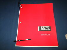 DYNAPAC CC10 VIBRATORY COMPACTOR OPERATION & MAINTENANCE MANUAL BOOK CATALOG