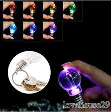 1 Modern LED Schlüsselanhänger Keychain Glühbirne Glühlampe Farbwechsel