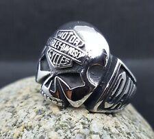 Harley-Davidson Acero Inoxidable Anillo de calavera