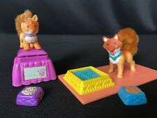 Vintage Littlest Pet Shop Playful Pups Foxes w/ Fluffy Tails  by Kenner